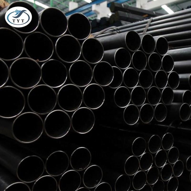 factory price erw carbon black steel pipe