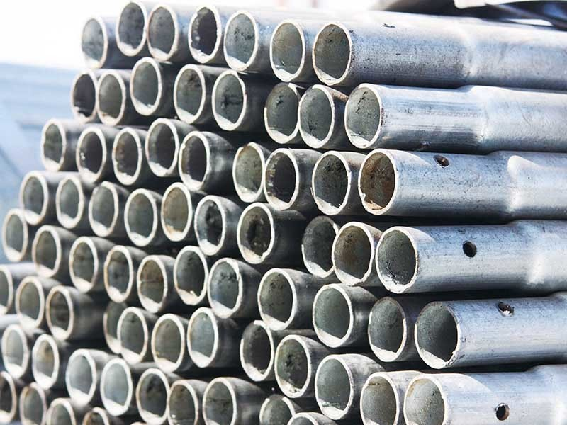 Steel pipe deep processing pipe with punching bending