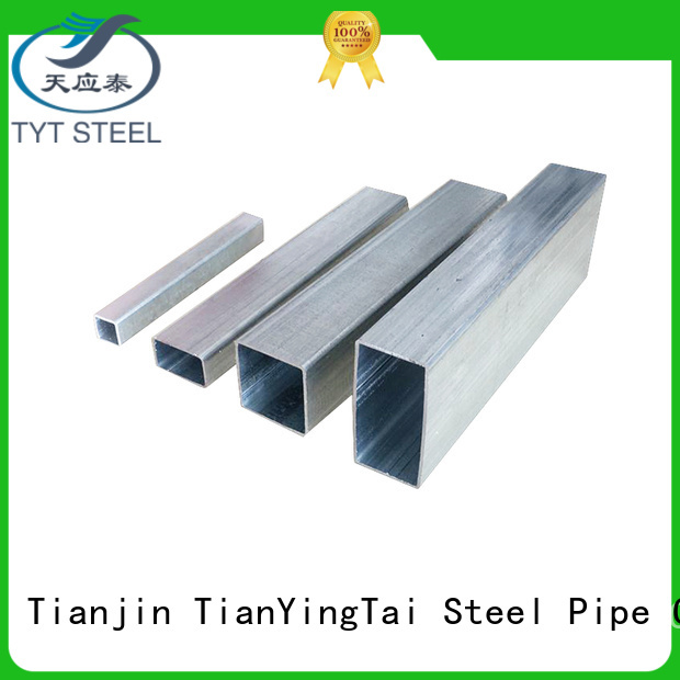 TYT popular galvanized square pipe supply for gasoline and oil lines