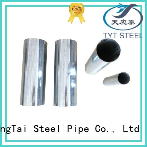 TYT pre galvanized pipes factory bulk production