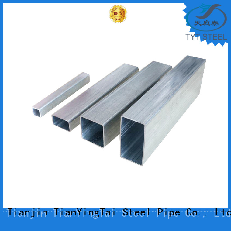 high quality galvanized steel tube square company for industry